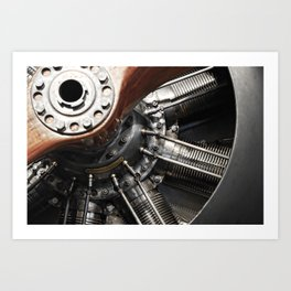 Airplane motor Art Print