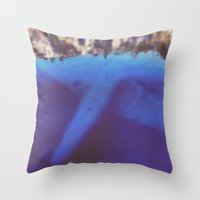 aviation Throw Pillows featuring underwater aviation  by lizbee