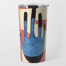 High Five in Blue Travel Mug