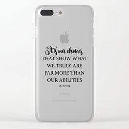 It is our choices Clear iPhone Case