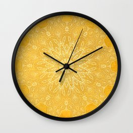 fine sun star mandala Wall Clock