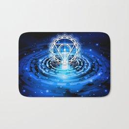 Cosmic Throat Chakra Tapestry Bath Mat