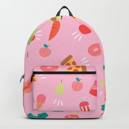 healthy foods and Junk Foods Backpack