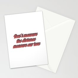 Long distance relationship I love you quotes sayings Stationery Cards