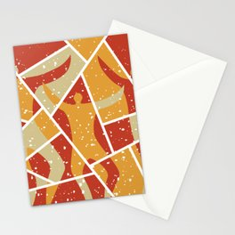 Dancers Abstract Modern Style Stationery Cards