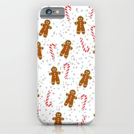 Gingerbread man wishes you Merry Xmas! - White iPhone Case
