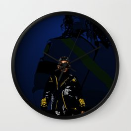 UR MJ passing the torch Wall Clock