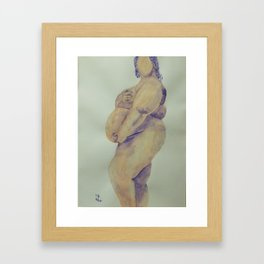 Pregnant Naked Beauty Framed Art Print