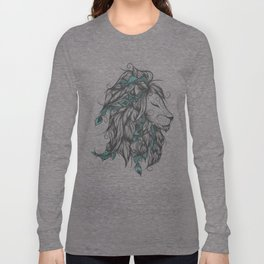 Poetic Lion Turquoise Long Sleeve T-shirt