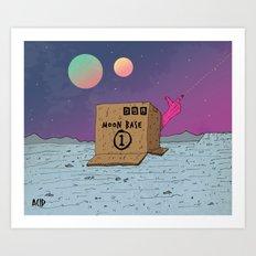 Moon Base Art Print