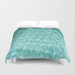 Aqua Bubble Wrap Duvet Cover