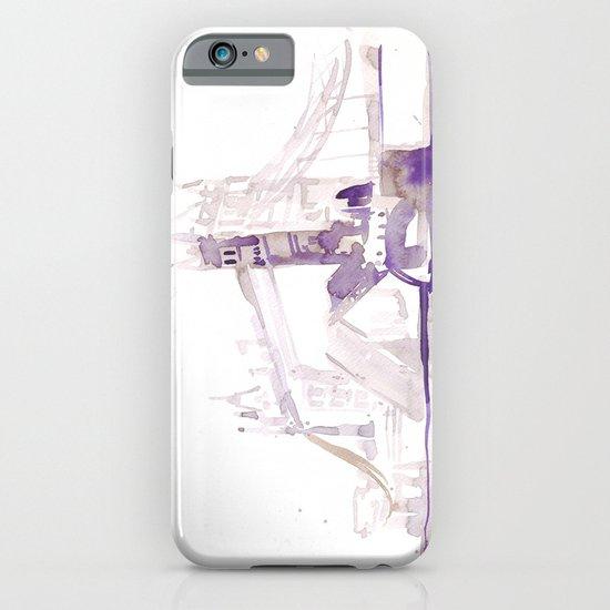 Watercolor landscape illustration_London Bridge iPhone & iPod Case