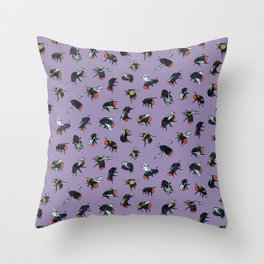 Bombus Lapidarius Throw Pillow