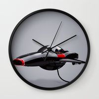 tesla Wall Clocks featuring Tesla by Frédéric Le Martelot