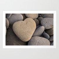 rock heart Art Print