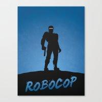 robocop Canvas Prints featuring RoboCop by Nick Kemp