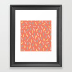 fall feathers Framed Art Print