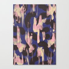 Paint Marks Camo Abstract Pattern Canvas Print