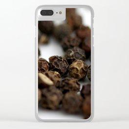 Black Pepper Clear iPhone Case