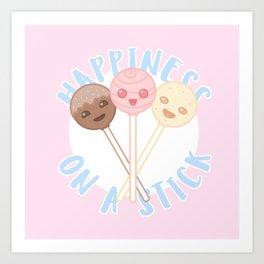 Cake Pops - Happiness on a Stick Art Print