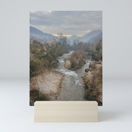 Mountain river Sella Mini Art Print