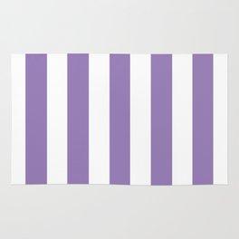 Lavender purple - solid color - white vertical lines pattern Rug