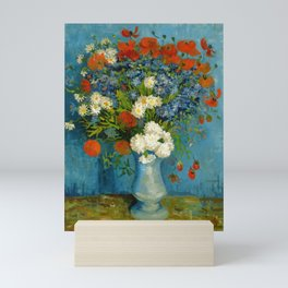 Vincent Van Gogh Vase With Cornflowers And Poppies Mini Art Print