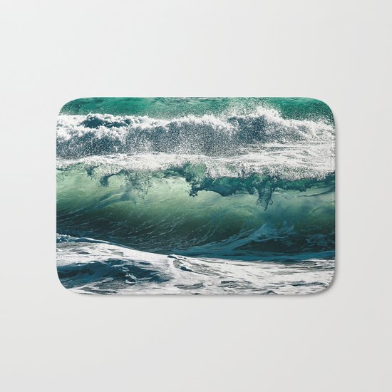 Wild waves Bath Mat