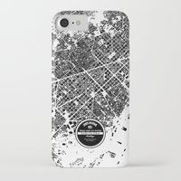 barcelona iPhone & iPod Cases featuring Barcelona by Maps Factory
