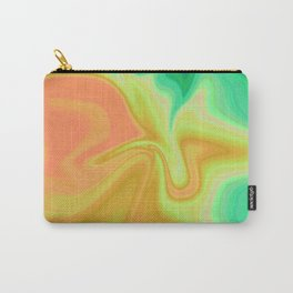 Liquid Yellow Green Carry-All Pouch