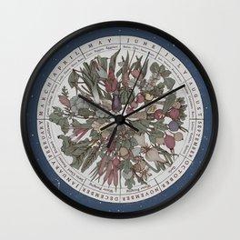 Seasonal Planting Calendar Wall Clock