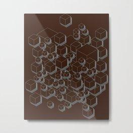 3D Futuristic Cubes VI Metal Print