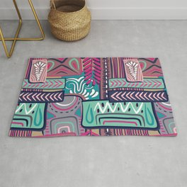 African Boho Geometric Pattern Rug