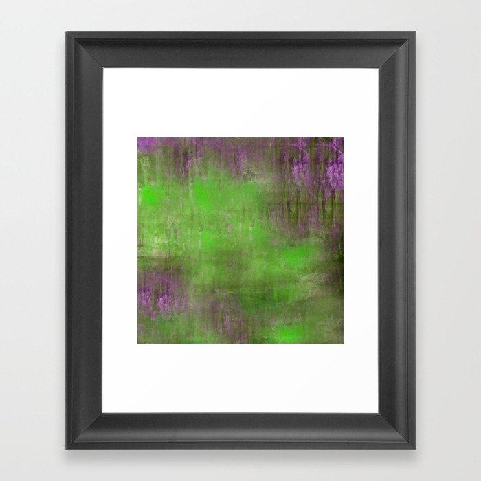Green Color Fog Framed Art Print