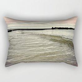 Sunset Crashing Rectangular Pillow