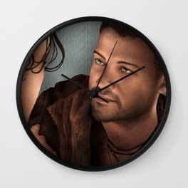 Nagron First Kiss (Agron, Spartacus) Color Version Wall Clock