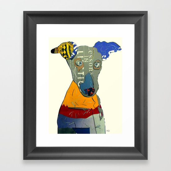 kacy (greyhound  Framed Art Print