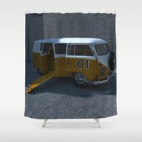 vw Shower Curtains featuring VW VAN by Portugal Design Lab