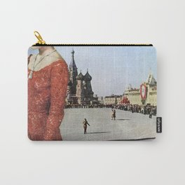 Lady in Red Square Carry-All Pouch
