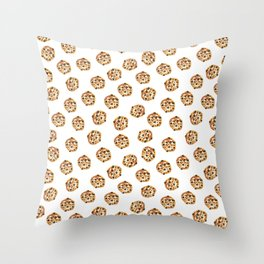Pattern design with chocolate chip cookies Throw Pillow