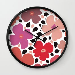 FLoral vibes Wall Clock