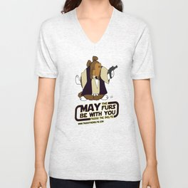 Frod0 the Sheltie: May the Furs Be With You (Frod0) Unisex V-Neck
