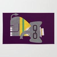 preppy Area & Throw Rugs featuring Rodney the preppy elephant by Picomodi