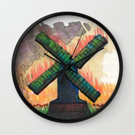 Tulips on Fire 71 Wall Clock