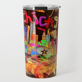 Chicago Popart by Nico Bielow Travel Mug