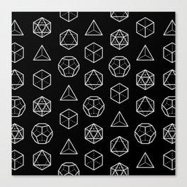 Platonic Solids Canvas Print