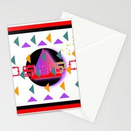 TRIANGLES CIRCLE GEOMETRIC SYMBOLS Stationery Cards