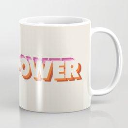Girl Power // in Orange Pink Beige Coffee Mug