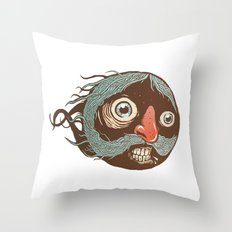 SuperMustacheMan Throw Pillow