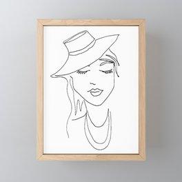 Fedora fab Framed Mini Art Print
